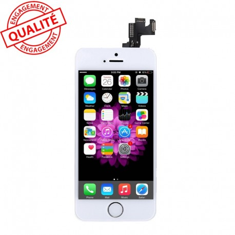 Ecran lcd iphone 5s blanc