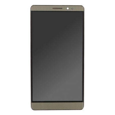 Ecran lcd Huawei Mate 8 sur chassis marron moka sans logo