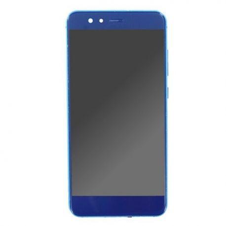 Ecran lcd Huawei P10 Lite sur chassis bleu sans logo