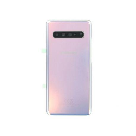 Vitre arrière Samsung Galaxy S10 5G G977F crown argent