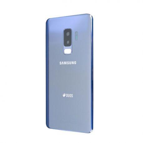 Vitre arrière Samsung Galaxy S9+ Duos G965F/DS bleu